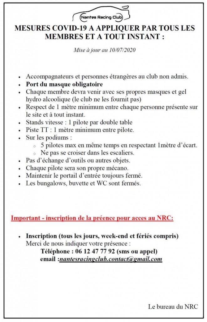 NRC consignes COVID v2